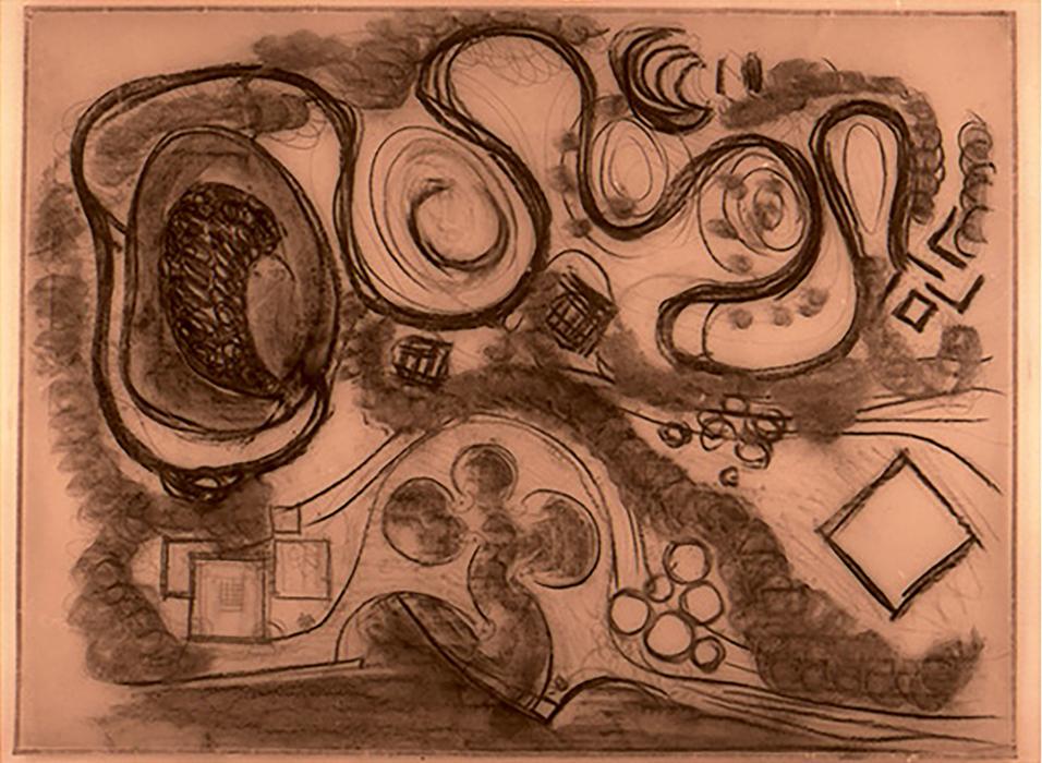 Marco Zanuso, Master Plan del progetto per Collodi, 1958 (ADM, Fondo Marco Zanuso).